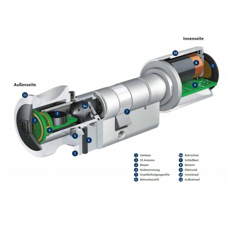 elektronischer schliesszylinder bks eletronische schlieazylinder se knaufzylinder aufbau dom