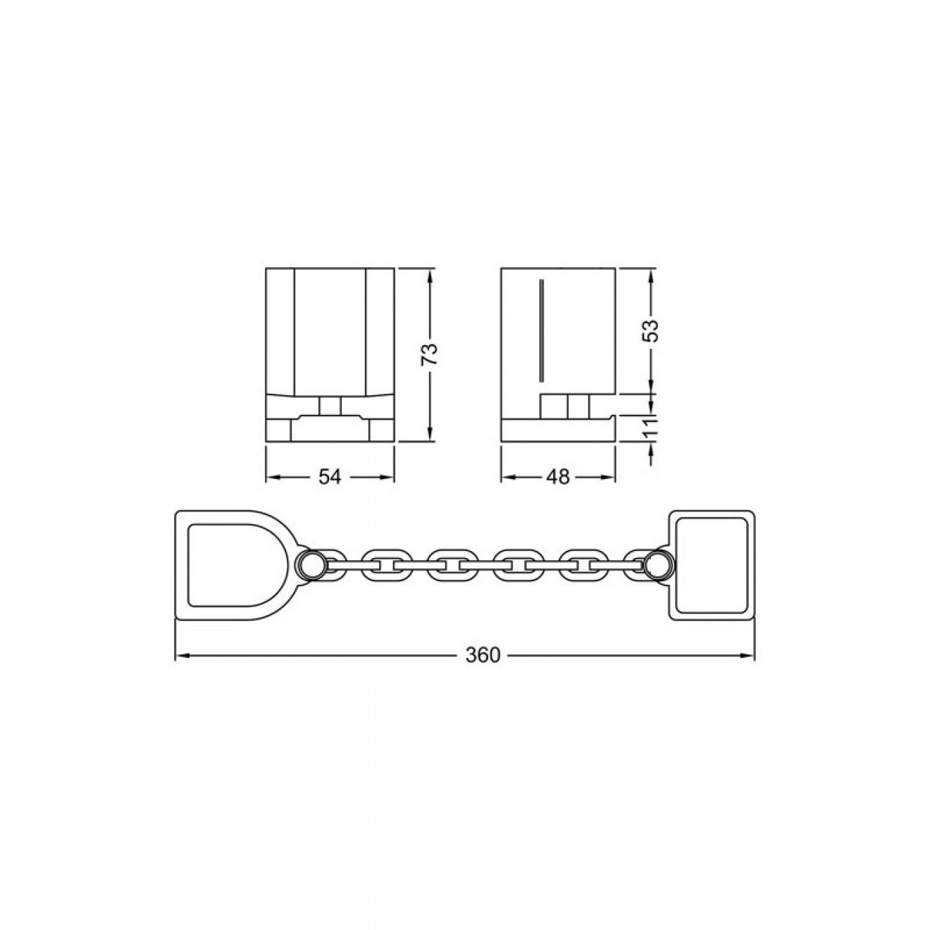 t rkette 9m34 f r halbzylinder in allen produktvariationen. Black Bedroom Furniture Sets. Home Design Ideas